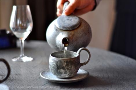 Gray Scandinavian teapot and cup