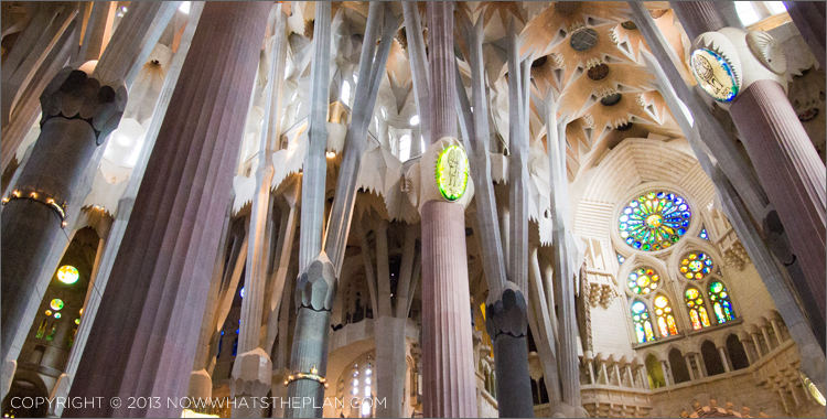 Interio of La Sagrada Familia