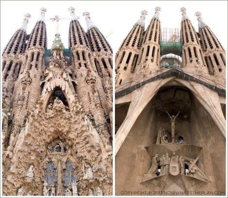 The Nativity facade; The Passion facade built much later by Subirach