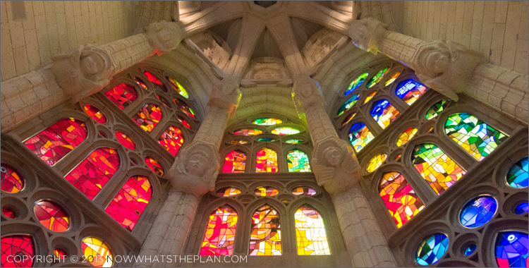 Beautiful windows in La Sagrada Familia