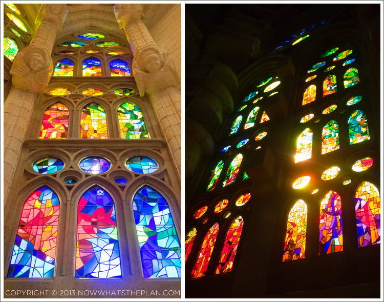 Stained windows of La Sagrada Familia