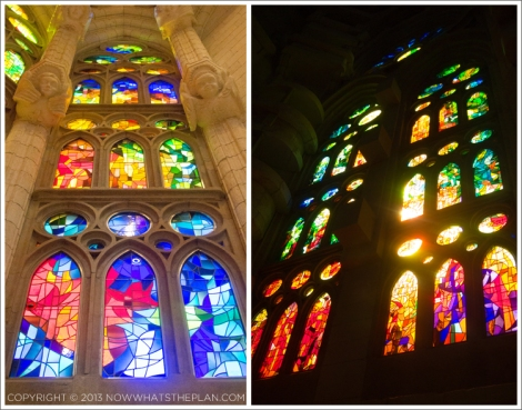 Stained windows of La Sagrada Familia