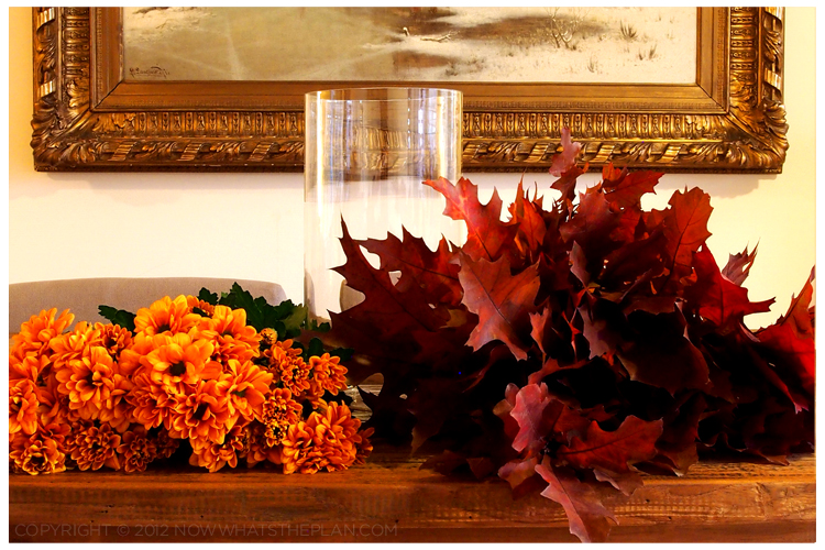 Fall foliage - prep the flowers and branches