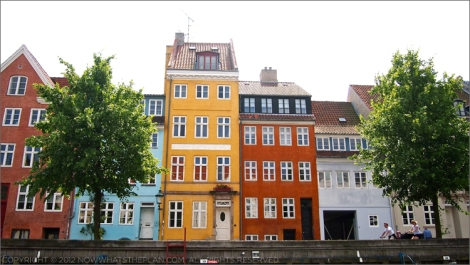 Colourful canal houses in Christiania