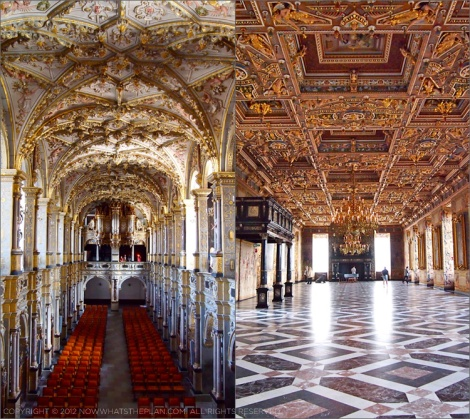 Frederiksborg Castle church and ballroom