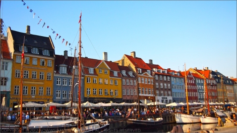 Nyhavn basking in sunshine