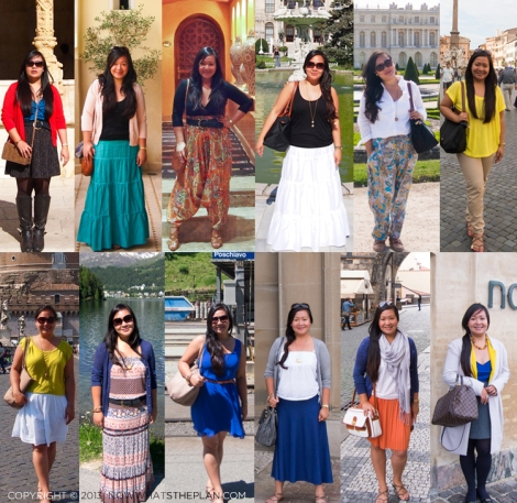 12 different outfits of 2012