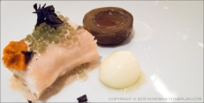 Sole with truffle meuniere, sea urchins, potato and artichoke