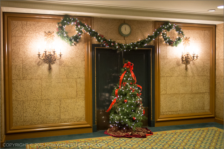 Christmas decoration in Fairmont Royal York Toronto