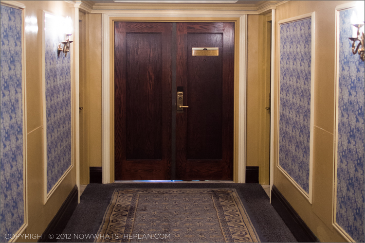 Double doors to the Governor General Suite