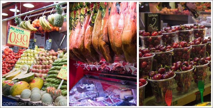 Lots of choices at La Boqueria Market