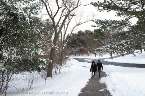 Couple enjoying a stroll in High Park Toronto