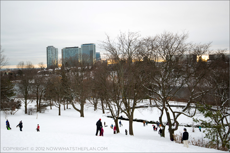 Secret winter playground in High Park Toronto