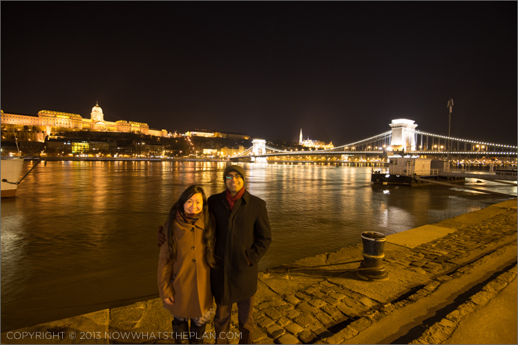 View of Buda at night