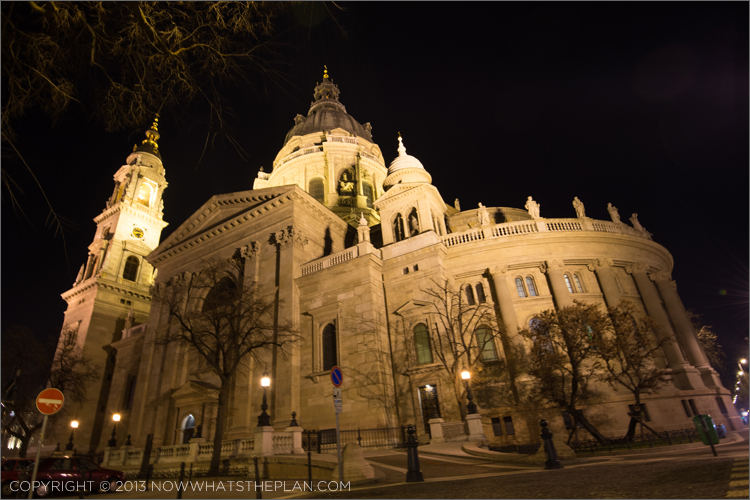 St. Stephen's Basilica at night