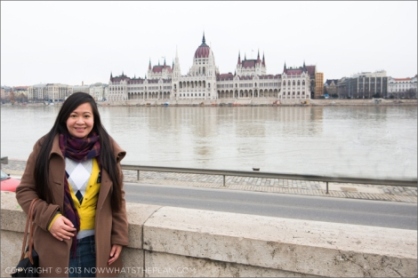 View of the House of Parliament Budapest from Pest