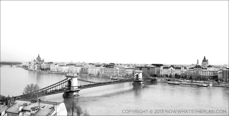 View of the Danube and Pest from Buda Castle