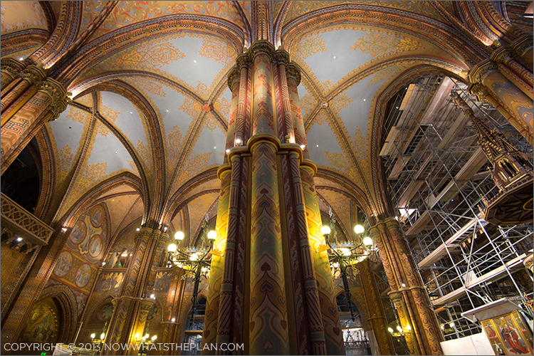 Inside Matthias Church