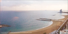 Hotel Arts Barcelona: Deluxe suites are in lower floors but the views are still spectacular - this one is from the 18th