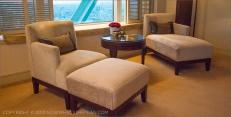 Hotel Arts Barcelona: Deluxe room lounge