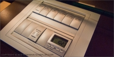 Hotel Arts Barcelona: Nightstand control panel for lights, music and window shades