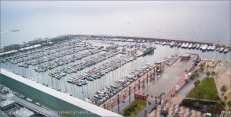 Hotel Arts Barcelona: 30th floor view of the marina