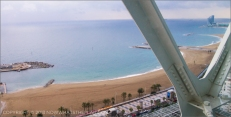 Hotel Arts Barcelona: 30th floor view of the Mediterranean