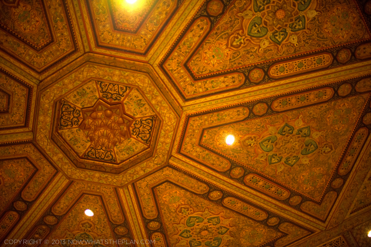 Al Iwan's beautiful ceiling