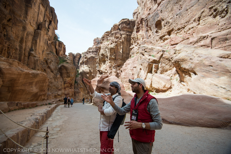 Nabatean lessons throughout the Siq