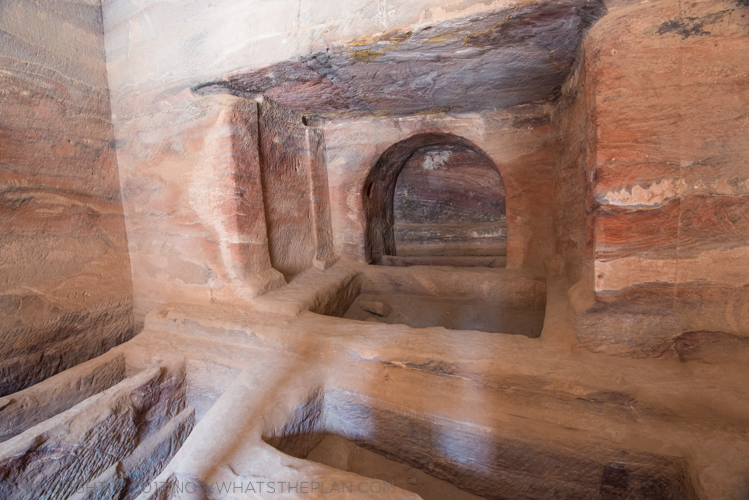 Inside a typical tomb - Petra