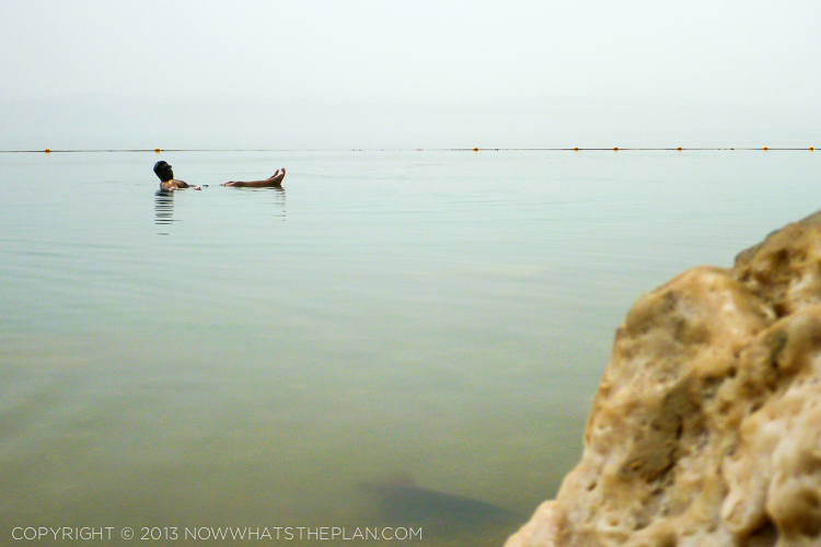Floating at the Dead Sea