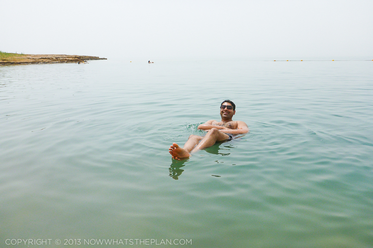 'Lounging' at the Dead Sea