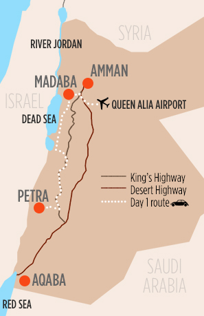 jordan-map-day-1-route