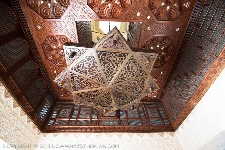 Movenpick Resort Petra's stunning lobby ceiling