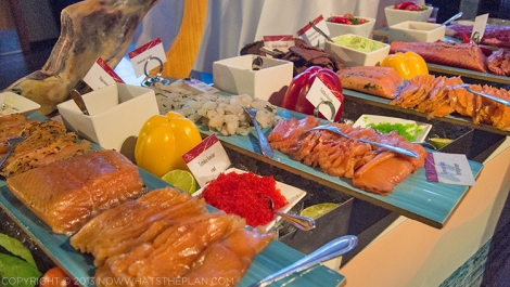 Rica Ishavshotel Tromsø breakfast spread - fish offerings