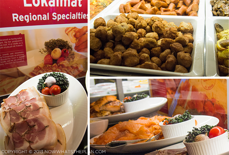 Rica Ishavshotel Tromsø breakfast spread - local meat specialties