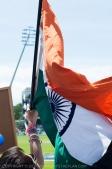 India flag flies