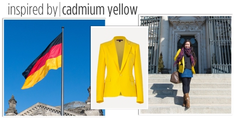 Yellow blazer from the yellow in the German flag