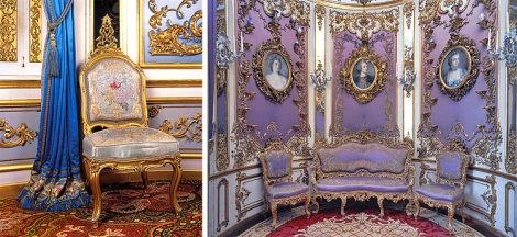 Blue and Lilac Rooms (Photo credit: http://www.schlosslinderhof.de/)