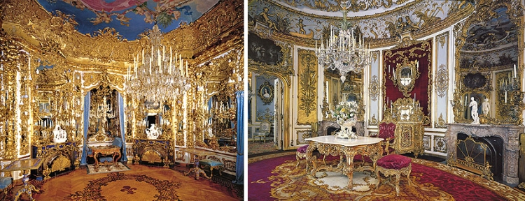 Hall of Mirrors and Dining Room (Photo credit: schlosslinderhof.de)