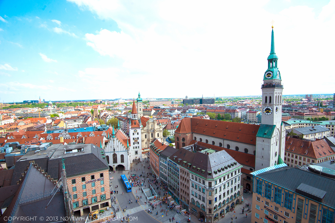 Munich views from the New Town Hall tower