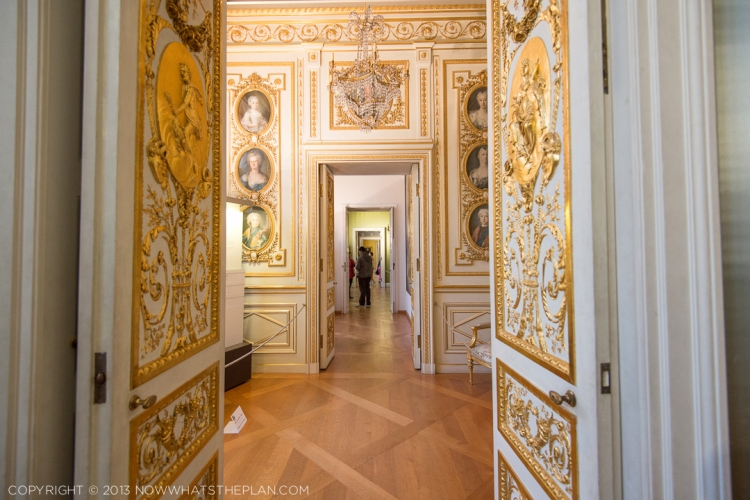 Ornate doors lead to more enchanting rooms