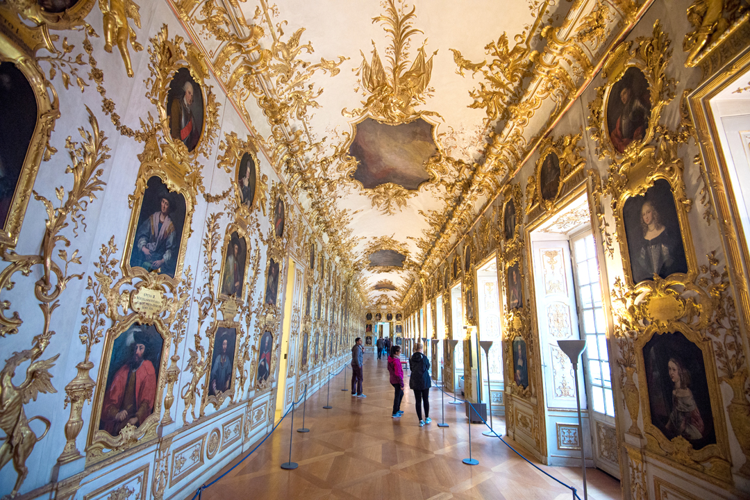 One of the many opulent galleries and hallways in the Munich Residence