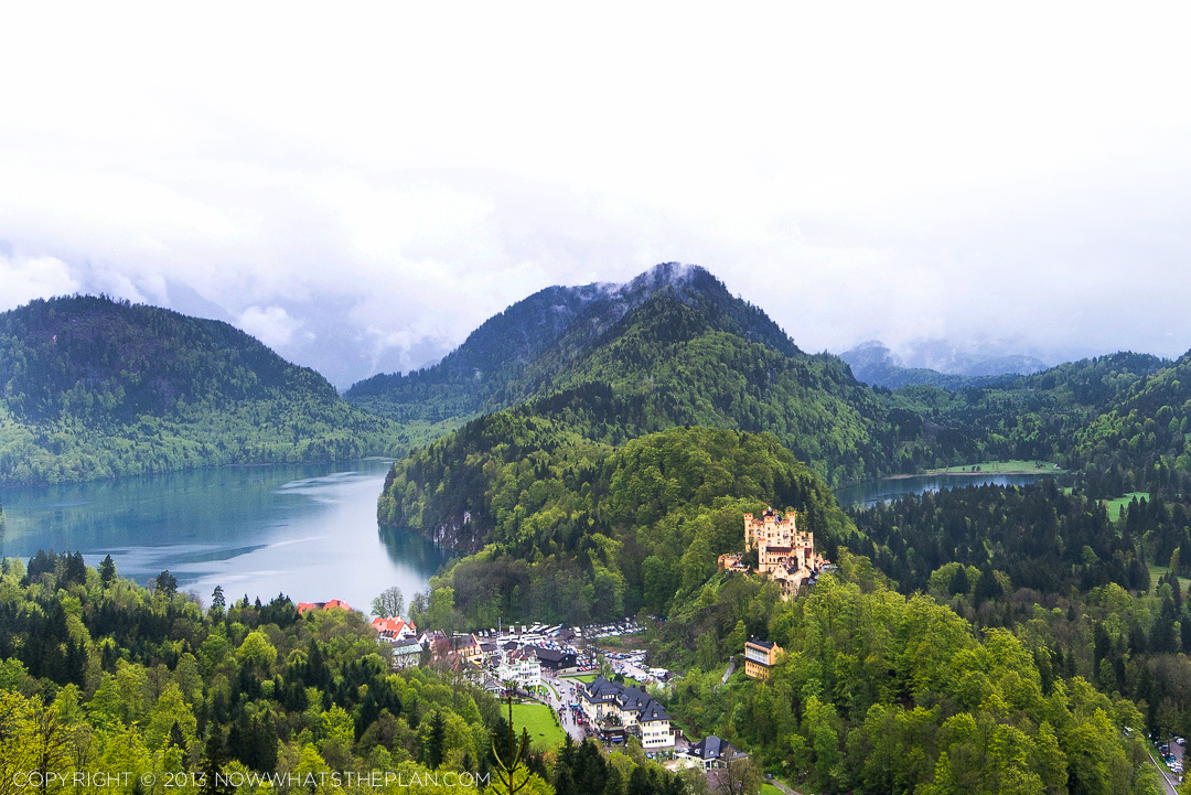The hike up gives you spectacular views of Hohenschwangau