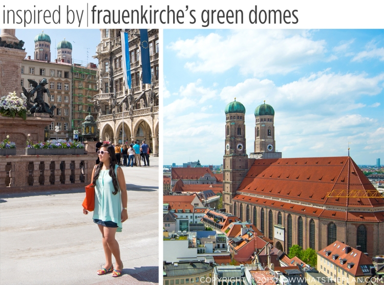Wearing the iconic green of the twin domes of Frauenkirche